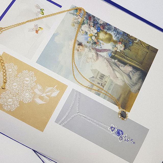 골드 큐빅 블랙 화이트 엔틱목걸이 - 톨토이즈, 12,900원, 패션, 패션목걸이